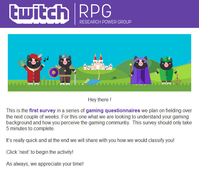 Twitch reasearch group announcement